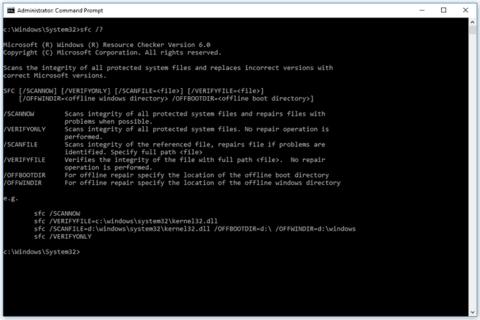 sfc help command windows 10 5a6f4e5843a10300377b5ccf