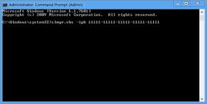 Use slmgr.vbs Command