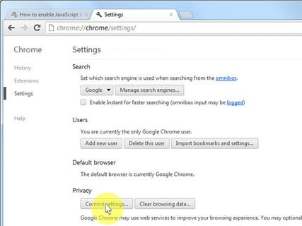 How to Enable Javascript on Google Chrome