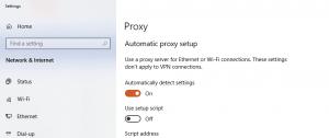 Proxy Setting in Google Chrome