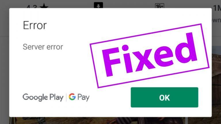 Google Play Store Error 907
