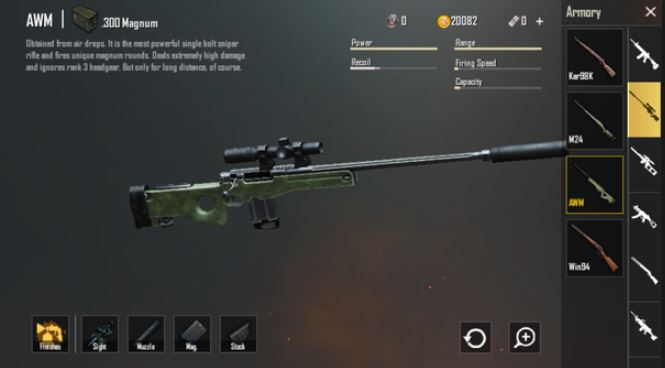 Best Sniper Rifle For PUBG Mobile