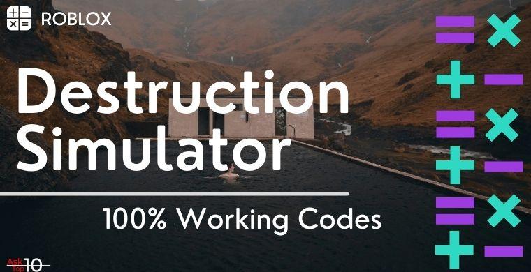 Roblox Codes for Destruction Simulator